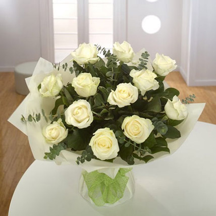 White Roses Bouquet BH: Gift Delivery Bahrain