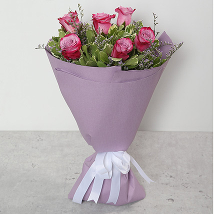 Bouquet Of Purple Roses BH: Valentines Gifts Delivery in Bahrain