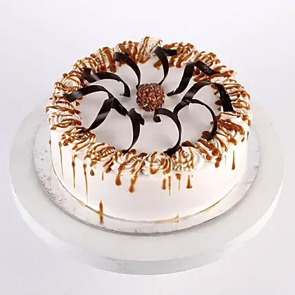 Heavenly Caramel Cream Cake: Cake Delivery to India