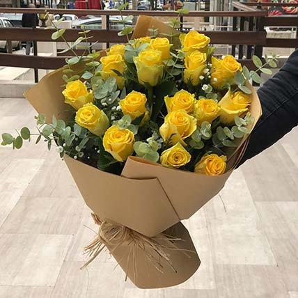 Dazzling Yellow Rose Bouquet: Gift Shop in Jordan