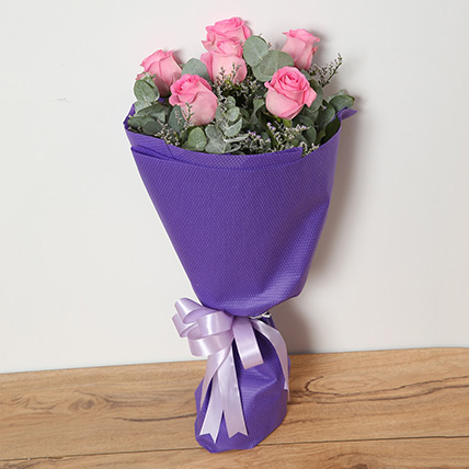 Bouquet Of Pink Roses KT: