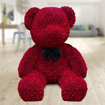 800 Red Roses Teddy: Hug Day Gifts