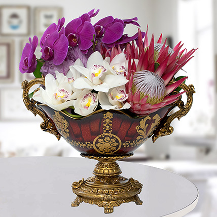 Antique Floral Arrangement: