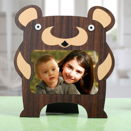 Bear Personalized Photo Frame: Personalised Gifts for Sister