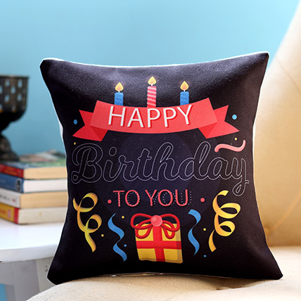 Birthday Candles and Gift Cushion: Birthday Cushions
