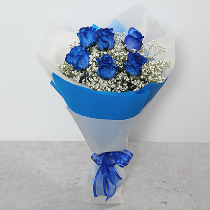 Bouquet Of Blue Roses: Birthday Flowers for Him