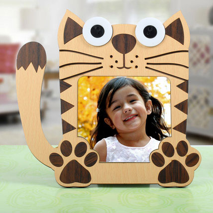 Cat Shaped Personalized Frame: Back to School Gifts