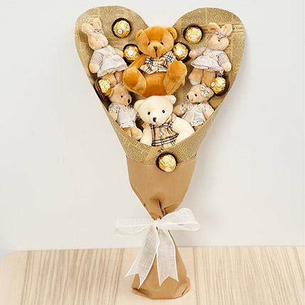 Chocolates and Teddy Bear Bouquet: New Arrival Gifts in Dubai