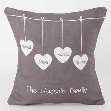 Family Love Personalized Cushion: Personalised Gifts for Brother