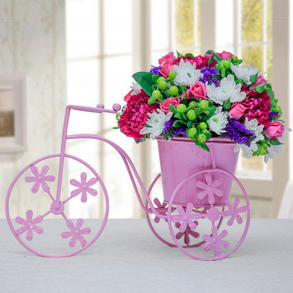 Floral Pink Cycle: Chrysanthemums Flowers