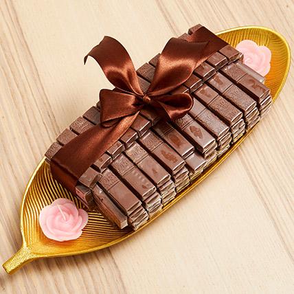 Golden Tray Of Belgian Chocolate: Diwali Chocolate Hampers