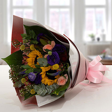 Gracious Flower Bouquet In Paper Packing: Ramadan Flower Arrangements