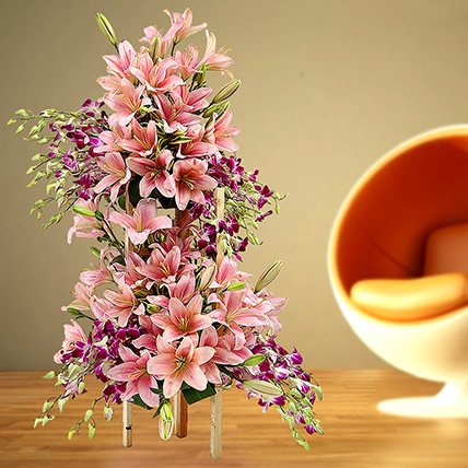Grand Celebratory Bouquet: Lilies in Dubai