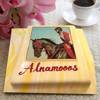 Horse Racing Photo Cake: Photo Cakes for Anniversary