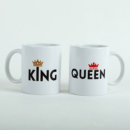 King N Queen Couple Mugs: Valentines Day Mugs