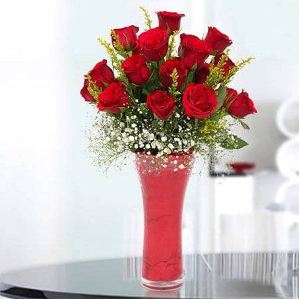 Long Stem Red Roses: Hug Day Flowers