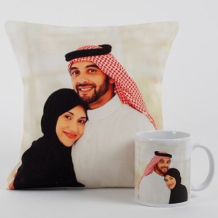 Lovable Personalized Cushion N Mug: Bhai Dooj Personalised Gifts