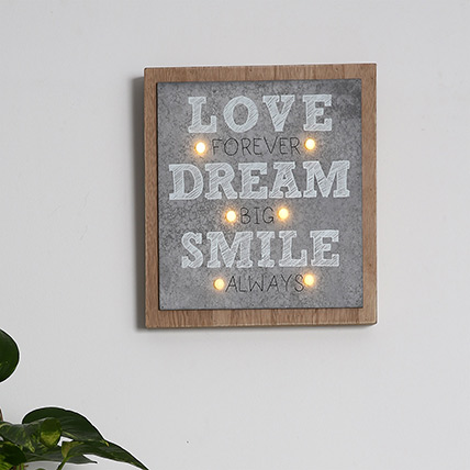 Love Dream and Smile Wall Frame: Home Decor Items