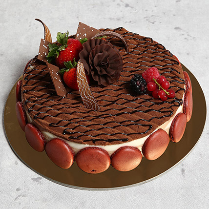 Luscious Triple Chocolate Cake: Anniversary Cakes to Abu Dhabi