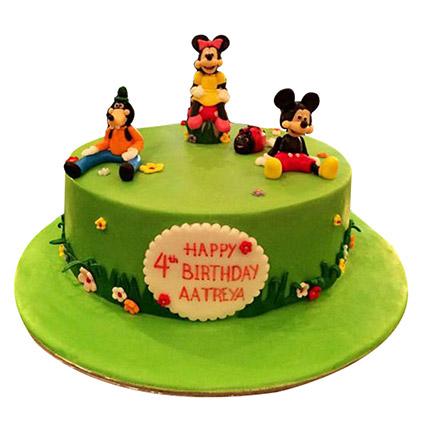 Mickey and Family Cake: Birthday Designer Cakes