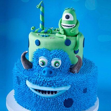 Mike and James From Monsters Cake 6 Kg: 3D Cakes Dubai