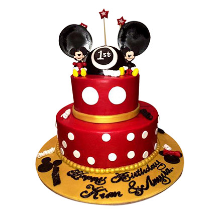 Minnie and Mickey Mouse Cake: Cartoon Birthday Cakes