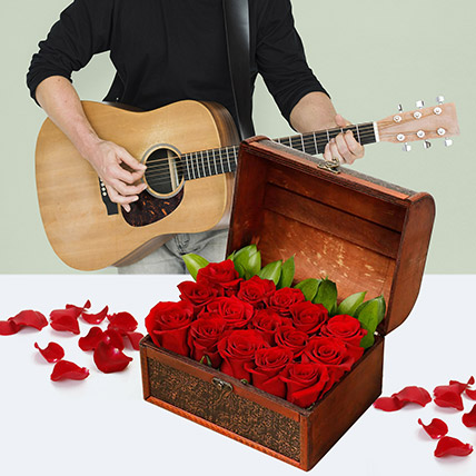 Music With The Box Of Love: Flowers & Guitarist Service