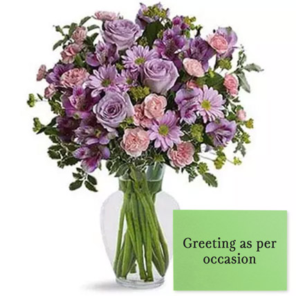 Ornamental Flowers With Greeting Card: