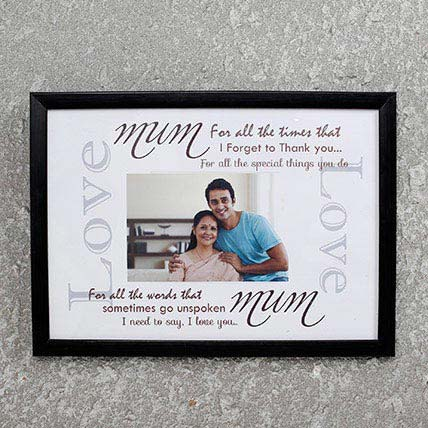 Personalized Frame For Mom Black: Personalised Gifts for Mother