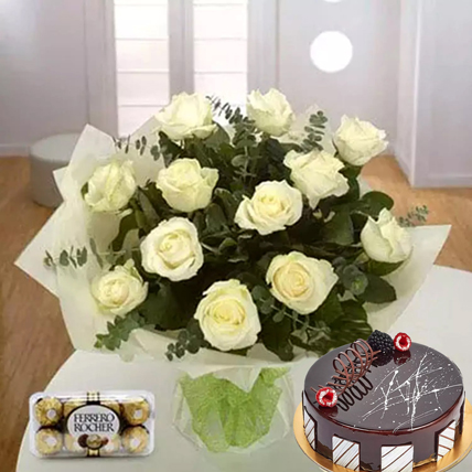 Pure Love Combo: Propose Day Flowers & Chocolates