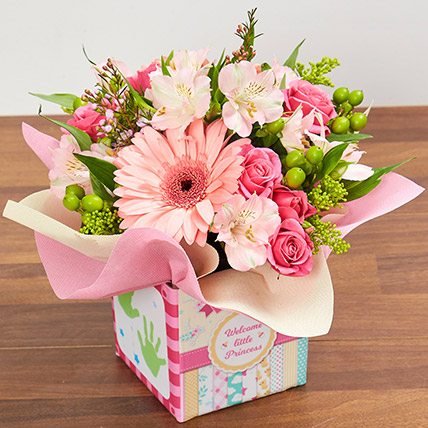 Ravishing Arrangement Of Pink Flowers: New Born Flowers