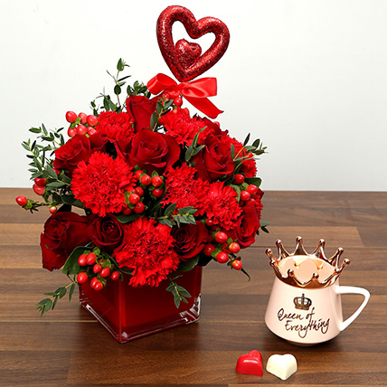 Flower & Chocolates Combo for Valentines Day