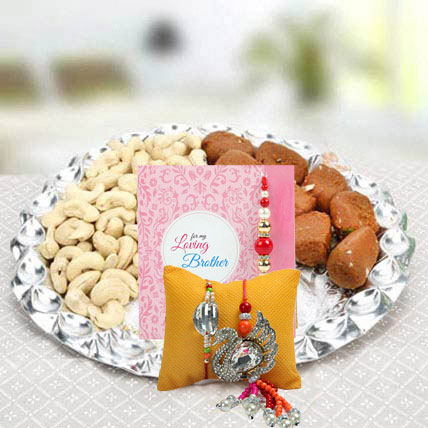 Set of Rakhi Lumba: Pearl Rakhi