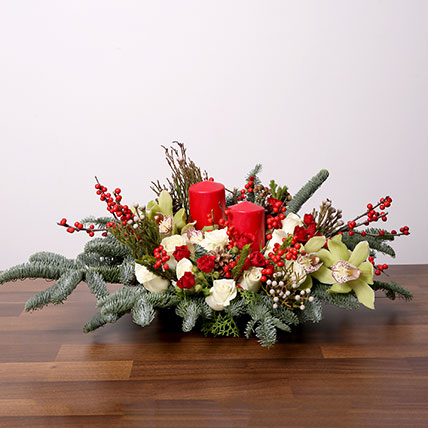 Splendid Christmas Flower Arrangement: