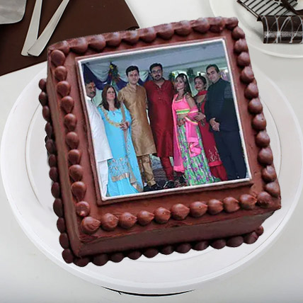 Square Photo Cake: Photo Cakes for Anniversary
