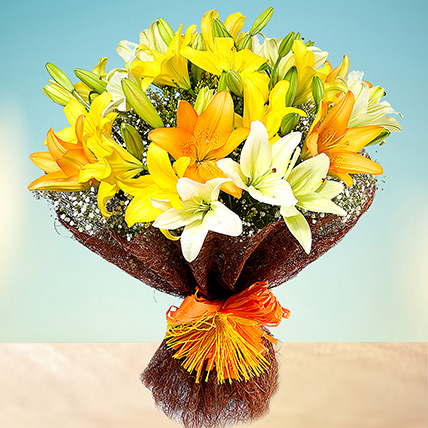 Sunny Asiatic Lilies: Birthday Gifts to Sharjah