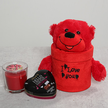 Teddy Bear and Scented Candle Combo: Teddy Day Gifts