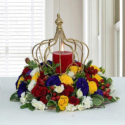 Tempting Centertable Flower Arrangement: Carnations Bouquets