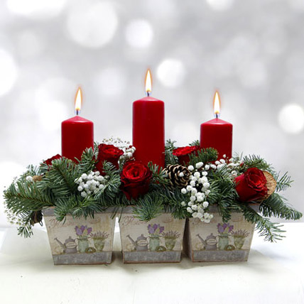 Timeless Cheer Bouquet: Christmas Flowers to Sharjah