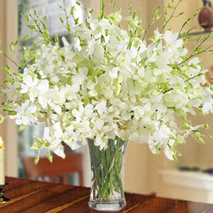 40 White Orchid Arrangement: Flower Wreath