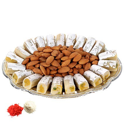 Sweet Burst on Silver Plate: Bhai Dooj Sweets