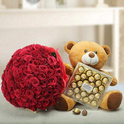 Say U Care: Rose Day Flowers & Teddy Bears