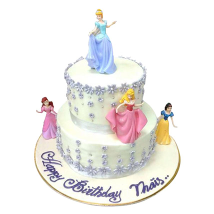 Lovely Princess Cake: Cartoon Birthday Cakes
