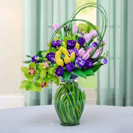Colourful Flower Arrangement: Easter Flower Delivery