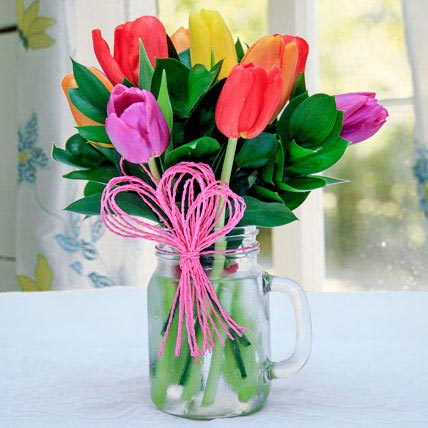 Tulip Arrangement: Mixed Flowers