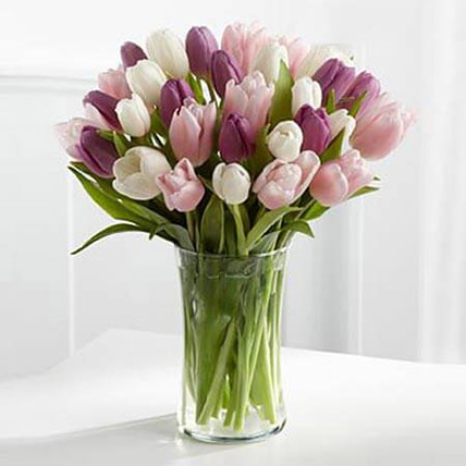 Painted Skies Tulip Bouquet: Same Day Delivery Gifts