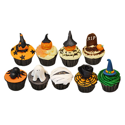 Halloween Assorted Cup Cakes: Halloween Themed Cakes