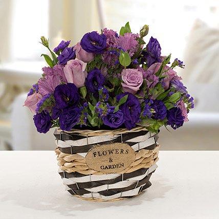 Pleasant Astoma N Rose Flower Basket:
