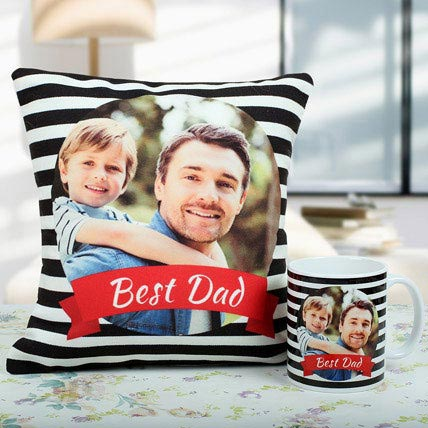 Best Dad Cushion And Mug Combo: Personalised Gifts for Father