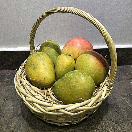 Mango Mix 4kg in a Basket: Fruit Basket Dubai